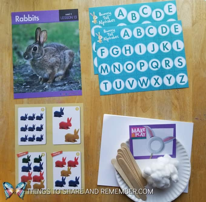What's in the Box? Growing Gardens Preschool Theme rabbits