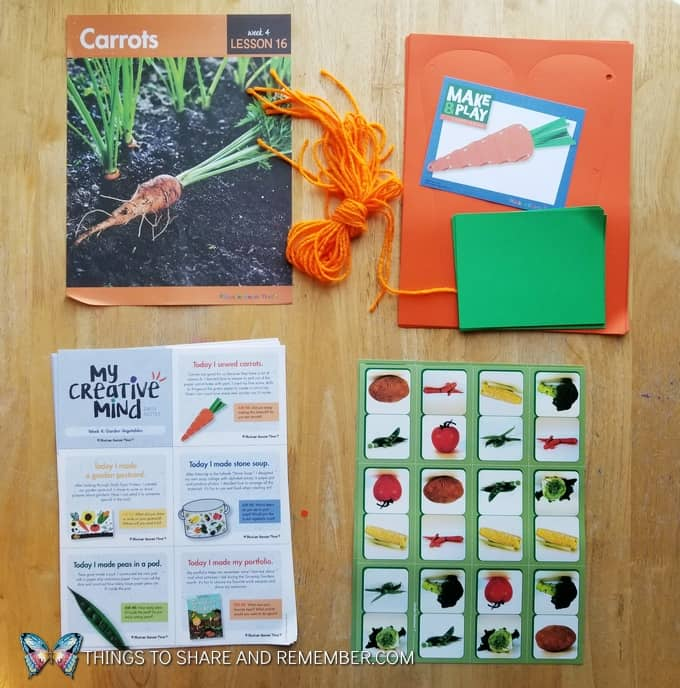 What's in the Box? Growing Gardens Preschool Theme
