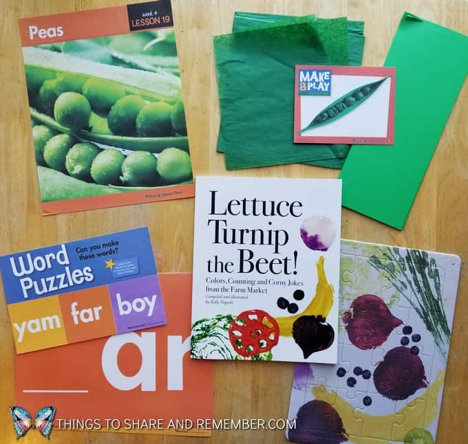 What's in the Box? Growing Gardens Preschool Theme peas