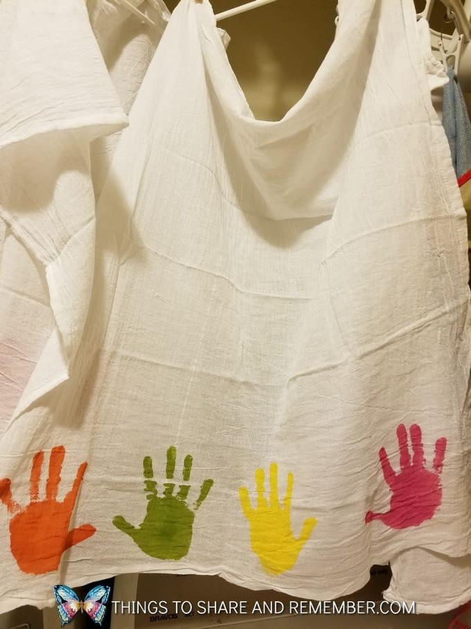 Keepsake Mother's Day Handprint Dish Towels
