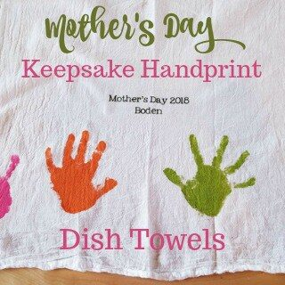 Keepsake Mother's Day Handprint Dish Towels