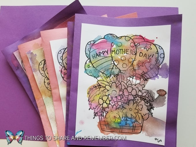 Mother's Day Coloring Page Card