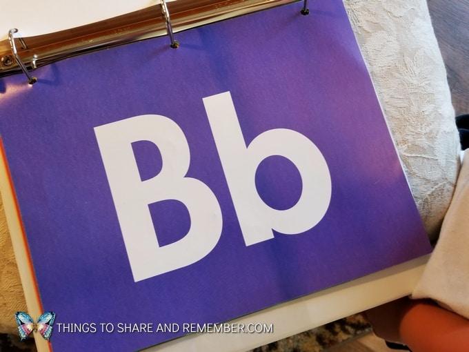 letter b card