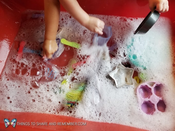 Learning About Responsibilities dish washing dramatic play