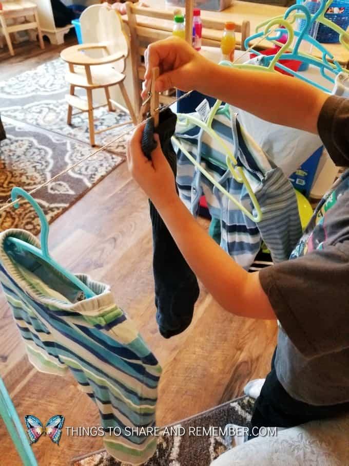 Laundry dramatic play Alphabet House