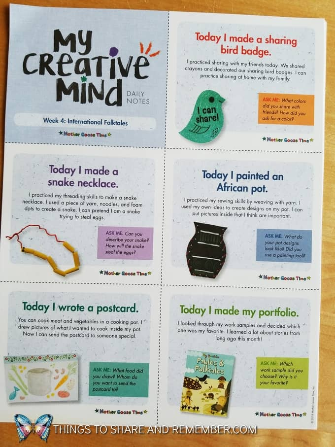 My Creative Mind Daily Notes Week 4