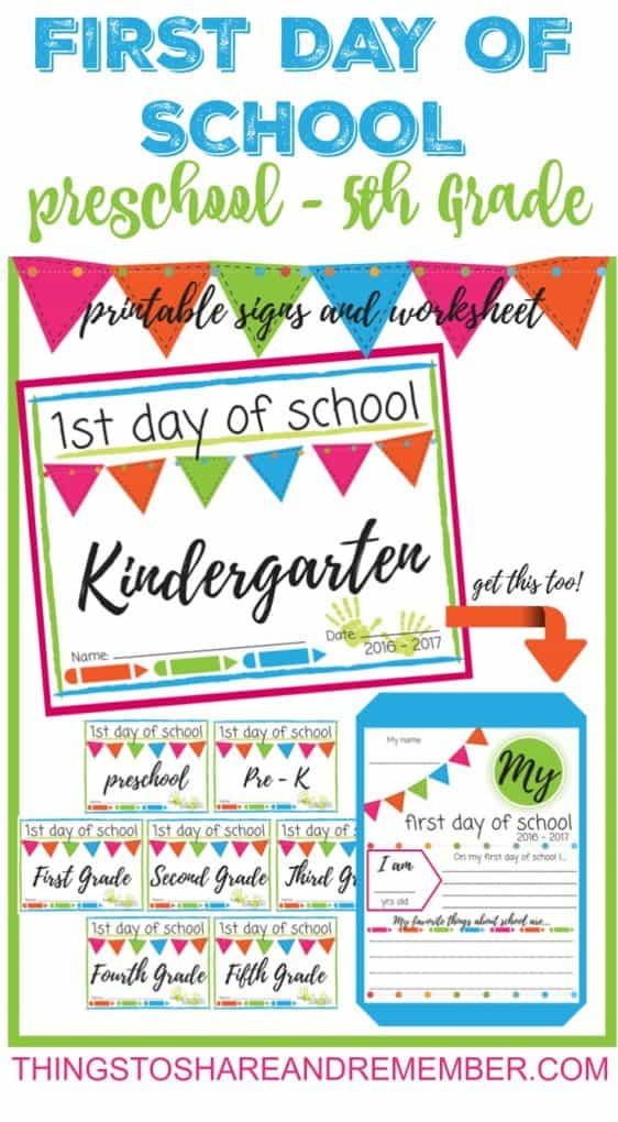 picture about First Day of 1st Grade Printable named 1st Working day of Higher education Printable Indicators