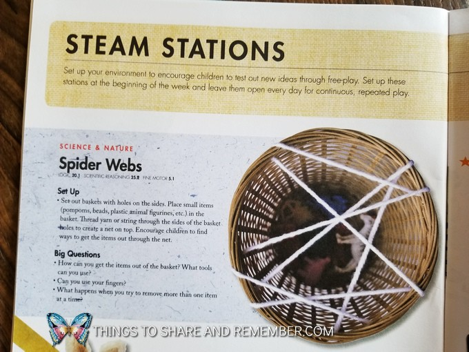 STEAM Station ideas for preschoolers