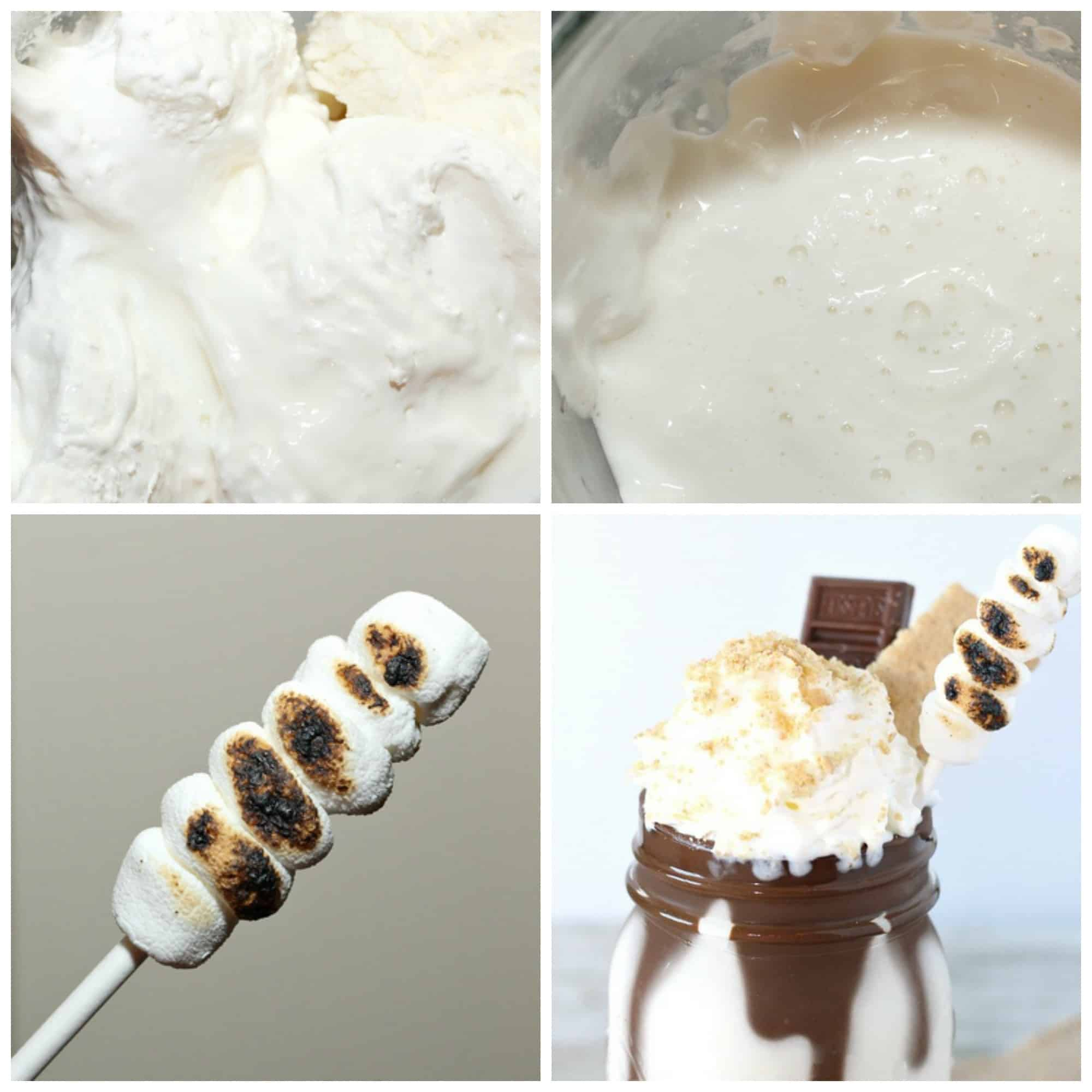 S'mores Milkshake recipe process