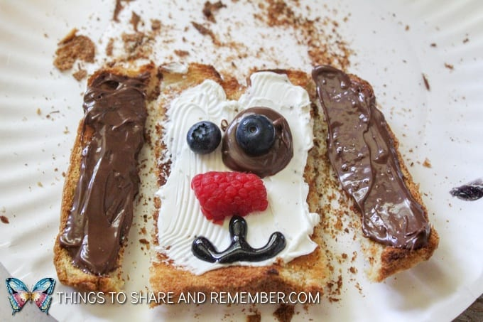 puppy toast snack Animal Toast Snacks for Kids with Printable Directions