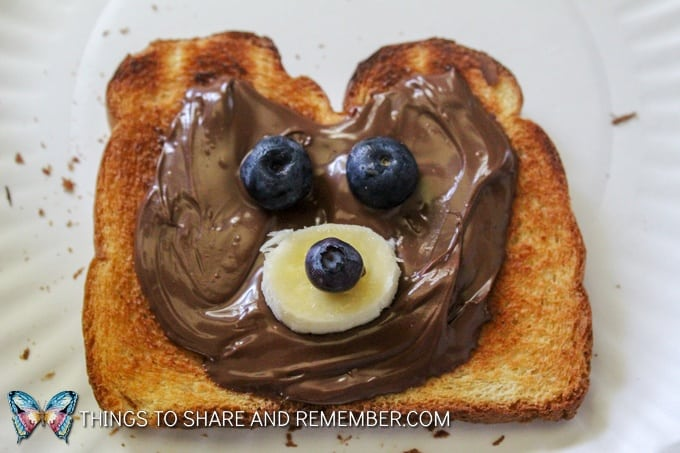 Bear snack Animal Toast Snacks for Kids with Printable Directions