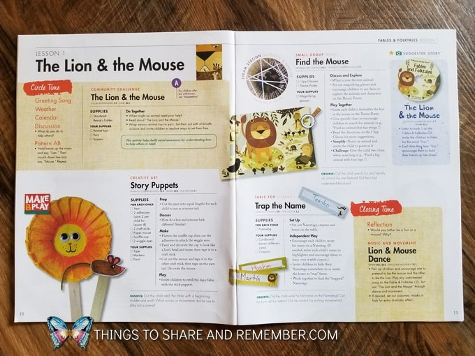 Fun Lion & The Mouse Fable Activities