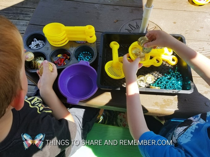 water play sorting Gems and Jewels Sensory and Sorting Play Activities Preschool Activities