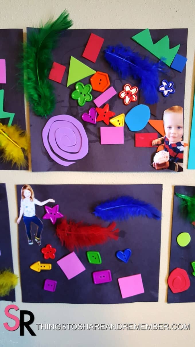 My Many Colored Days Collages preschool art display