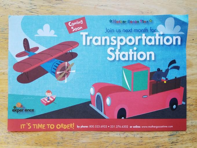 Mother Goose Time theme next month - Preschool curriculum Transportation Station theme