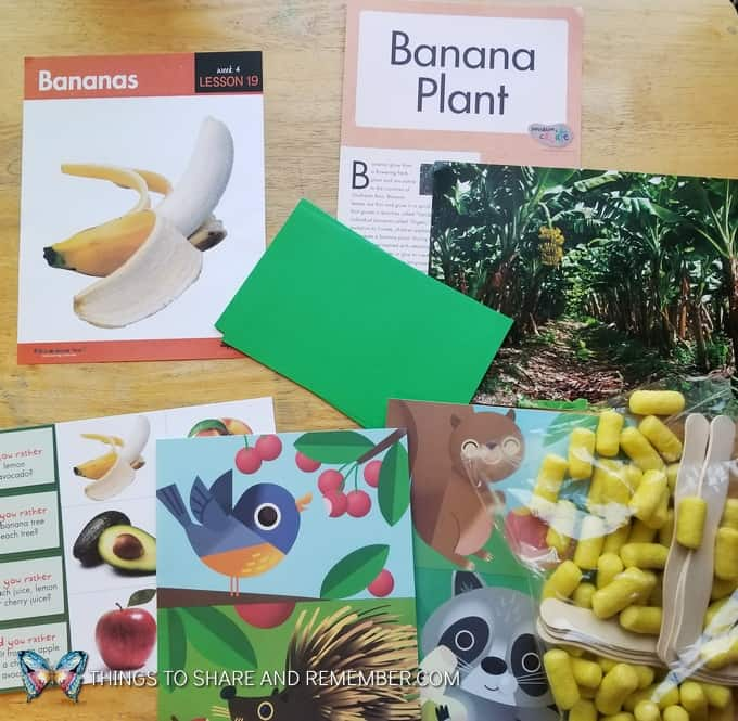 Lesson 19 Mother Goose Time Preschool Curriculum Orchard Harvest fall theme Banana Plant