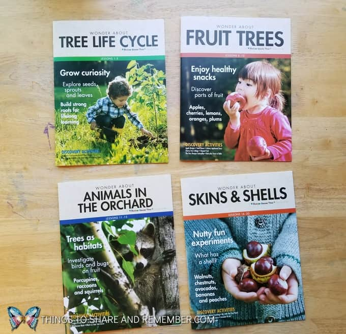 Mother Goose Time fall preschool curriculum theme Orchard Harvest - Tree Life Cycle, Fruit Trees, Animals in the Orchard and Skins & Shells