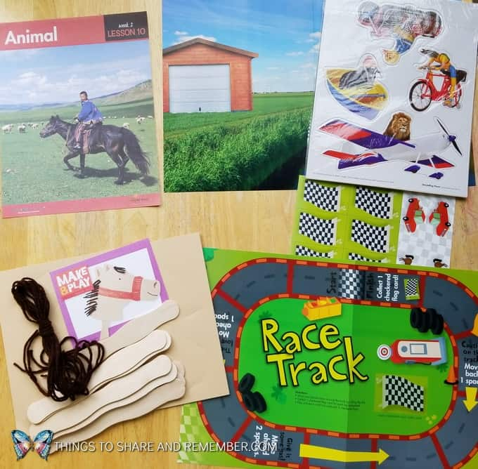 Lesson 10: animal race car game What's in the box: Transportation Station