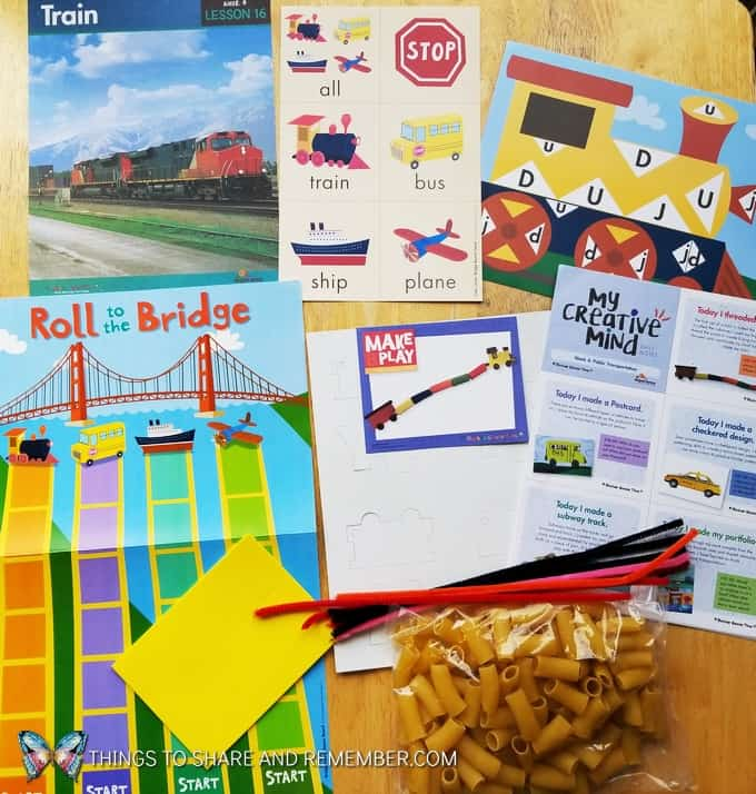 Lesson16: Train, letter game, roll a bridge game and make and play train craft