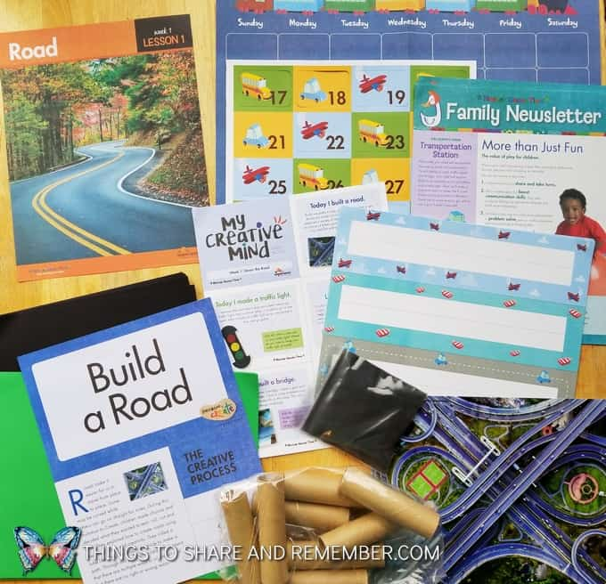 Lesson 1: Road, calendar, family newsletter, My Creative Mind, Build a road activity