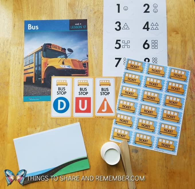 lesson17: Bus, number matching game