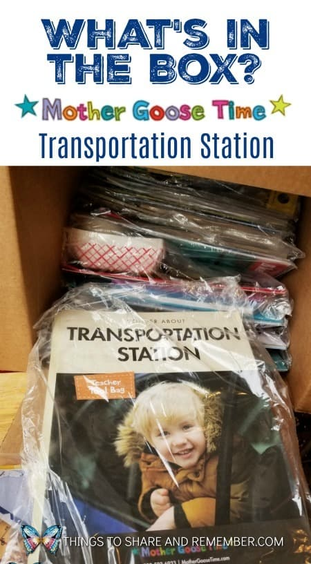 Mother Goose Time Transportation Station Preschool Curriculum Kit November 2018 What's in the box: Transportation Station