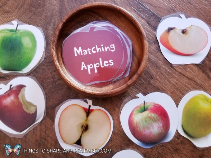 Matching Apples card game