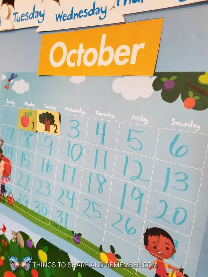 October preschool calendar super fun circle time