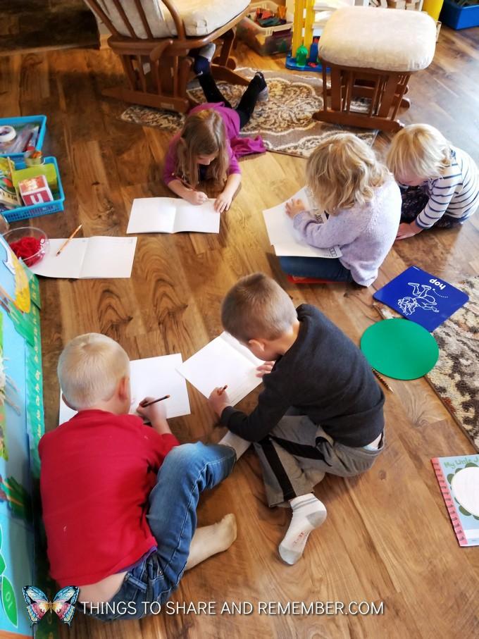 children writing in journals super fun circle time
