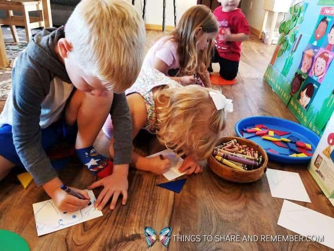 kids coloring super fun circle time