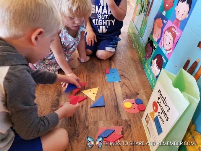 kids playing feeling shapes game super fun circle time