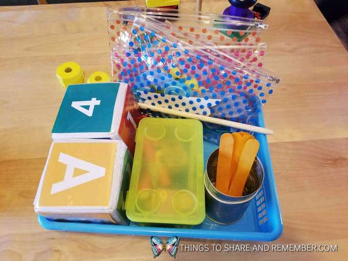 basket with items for preschool  super fun circle time