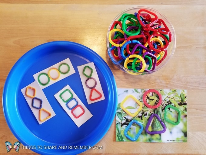 shape manipulatives and activity mats