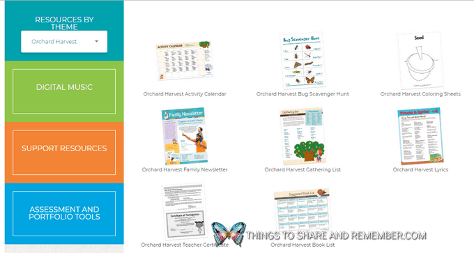 screenshot of the member resources on the Mother Goose Time website Making the Most of Your Mother Goose Time Materials