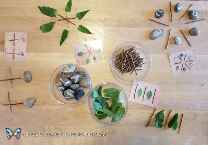 preschool table activity Loose Parts Nature Designs