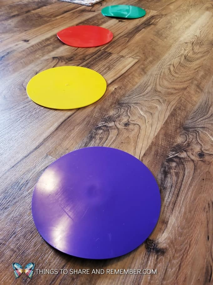 colorful vinyl spots for sitting at circle time super fun circle time