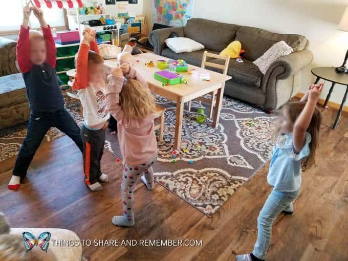 kids doing yoga super fun circle time