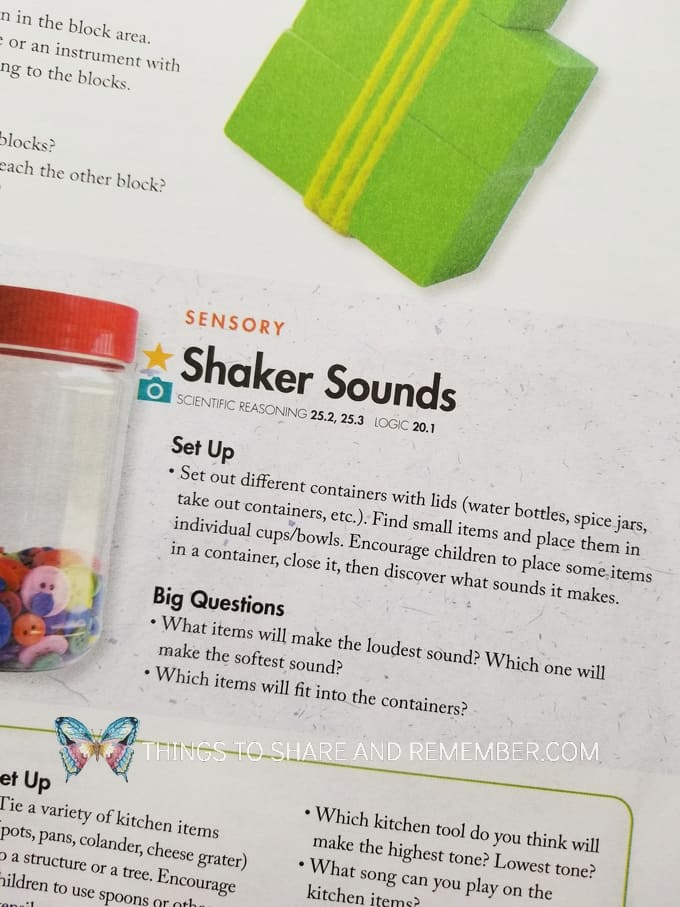 Sensory Shaker Jars - make shaker sounds with different containers filled with small items. Shake and discover what sounds it makes. #MGTblogger #MotherGooseTime #sensory #sensorybottle #STEAM #STEAMStation #preschoolSTEAM