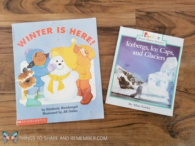 Books about winter and ice - learning about winter ice