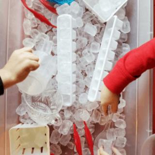 winter ice preschool activities science, art, and sensory