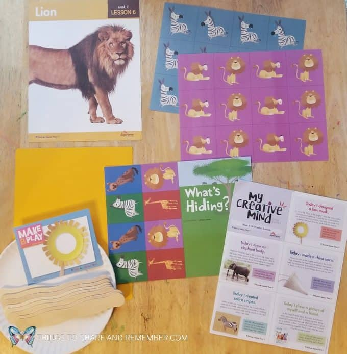Lesson 6 Lion Going on Safari theme Mother Goose Time preschool curriculum #GoingOnSafari #MGT blogger #MotherGooseTime