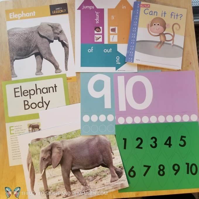 Lesson 7 Elephant activities Going on Safari theme Mother Goose Time preschool curriculum #GoingOnSafari #MGT blogger #MotherGooseTime