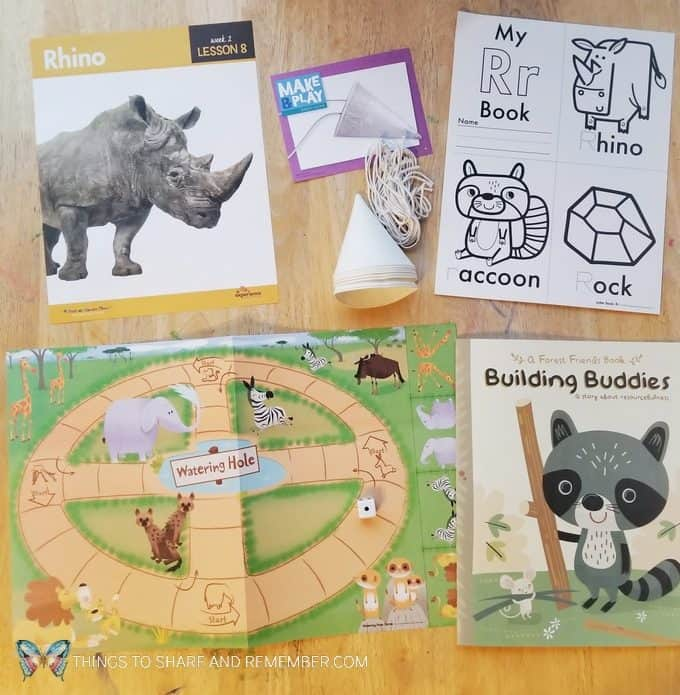 Lesson 8 Rhino activities Going on Safari theme Mother Goose Time preschool curriculum #GoingOnSafari #MGT blogger #MotherGooseTime