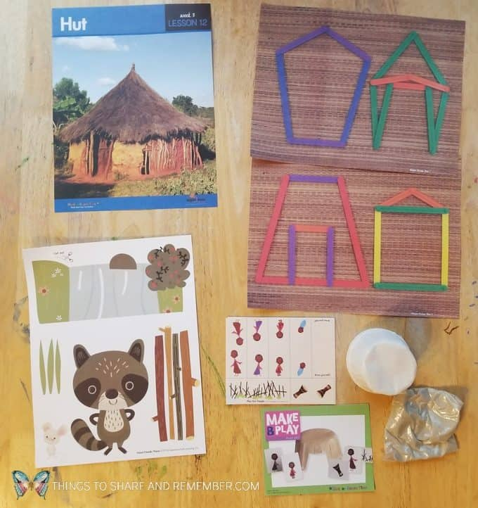 Lesson 12 hut Going on Safari theme Mother Goose Time preschool curriculum #GoingOnSafari #MGT blogger #MotherGooseTime