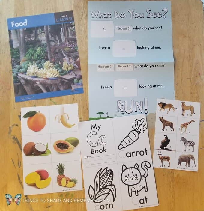 Lesson 13 Safari food Going on Safari theme Mother Goose Time preschool curriculum #GoingOnSafari #MGT blogger #MotherGooseTime