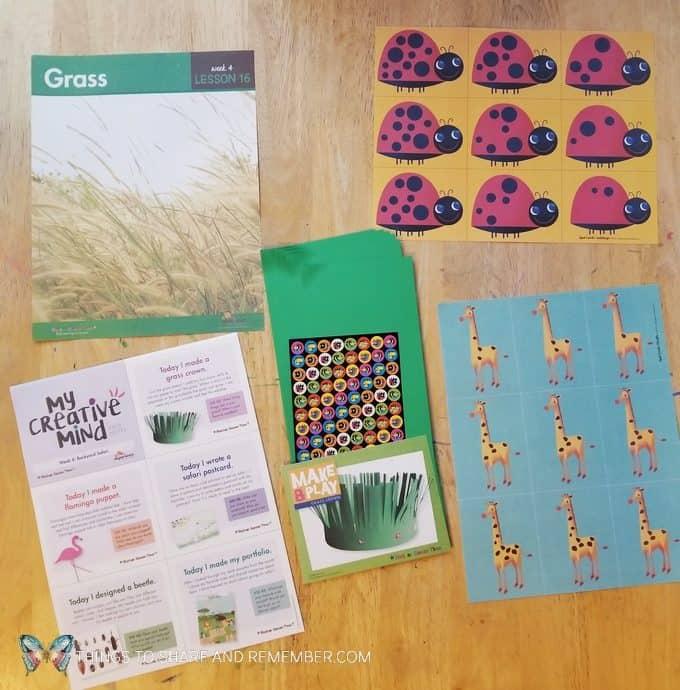Lesson 16 grass Going on Safari theme Mother Goose Time preschool curriculum #GoingOnSafari #MGT blogger #MotherGooseTime