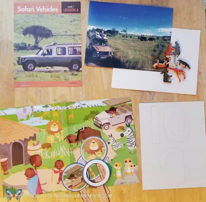 Lesson 4 Safari Vehicles Going on Safari theme Mother Goose Time preschool curriculum #GoingOnSafari #MGT blogger #MotherGooseTime