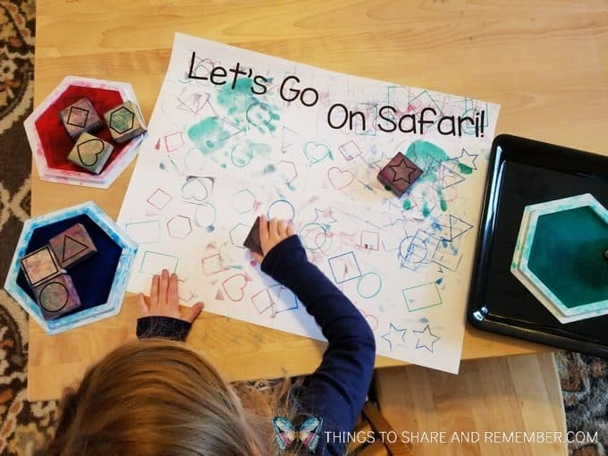 Let's go on safari stamping activity Passport to Safari passports, maps, writing and stamping activities for preschool Going on Safari theme #MGTblogger #MotherGooseTime #GoingOnSafari