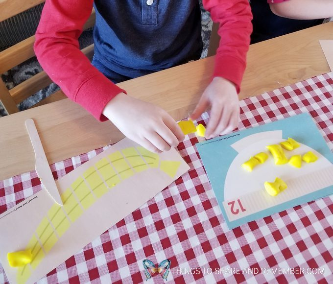 slicing and counting bananas  Slice and Count Play Dough Math Activity