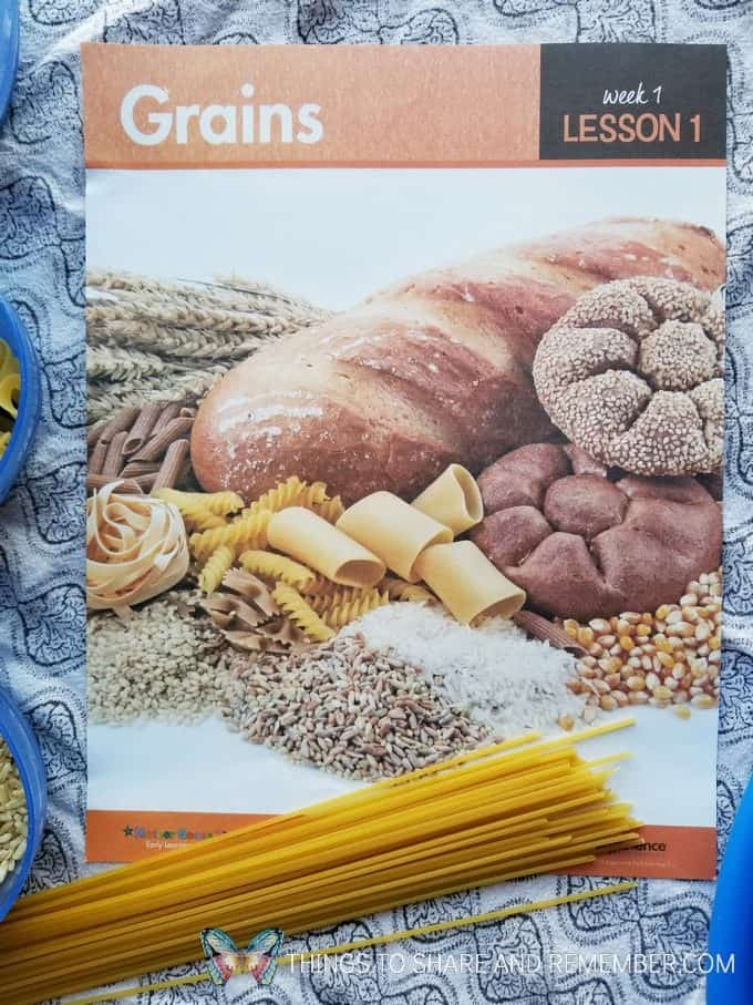 Mother Goose Time Health and Fitness theme for February 2019 - Preschool curriculum Food Groups - Grains activities #MGTblogger #MGTHealthandFitness #ece #preschool #nutritiontheme